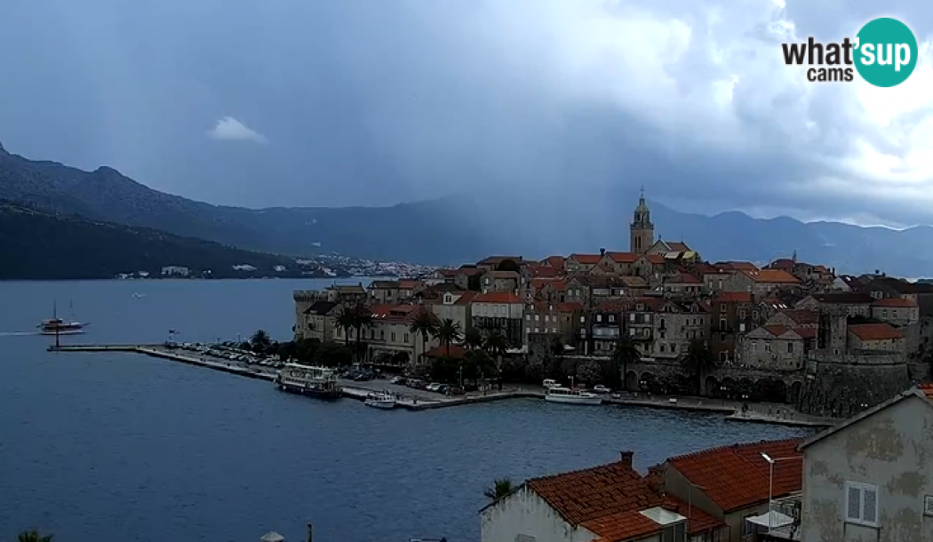 The new panoramic rotating webcam on Korčula