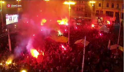 Croatia is on fire, big celebration on the streets and squares