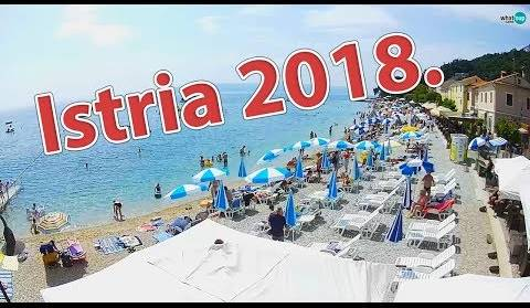 Beautiful beaches of Istria, Timelapse 4.7.2018.