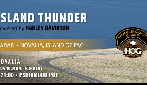 Island Thunder on island of Pag