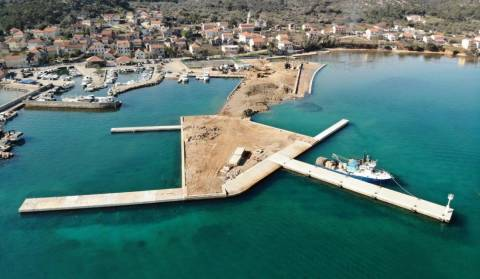 New ferry port in Tkon on the island of Pašman