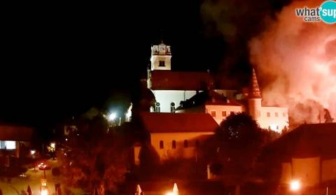 Fire in the Shrine in Marija Bistrica