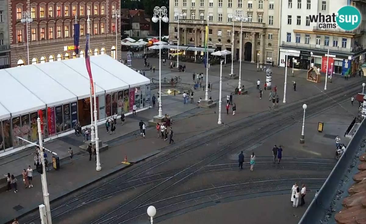 Zagreb Ban Jelacic Main Square Webcam Zagreb Live