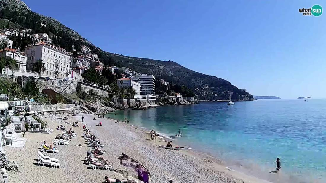 Dubrovnik Banje Beach View Towards Cavtat Dubrovnik