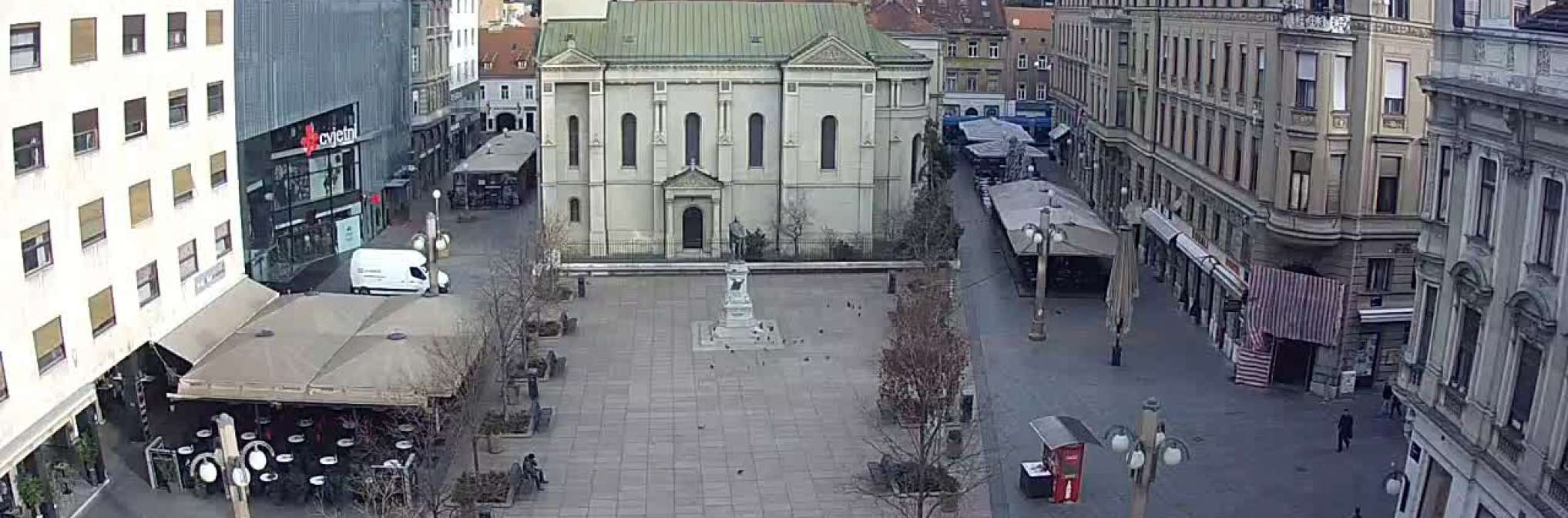 Zagreb Cvjetni Trg Zagreb Right Now Live Livestreaming Cameras From Croatia Livecamcroatia Explore Croatia