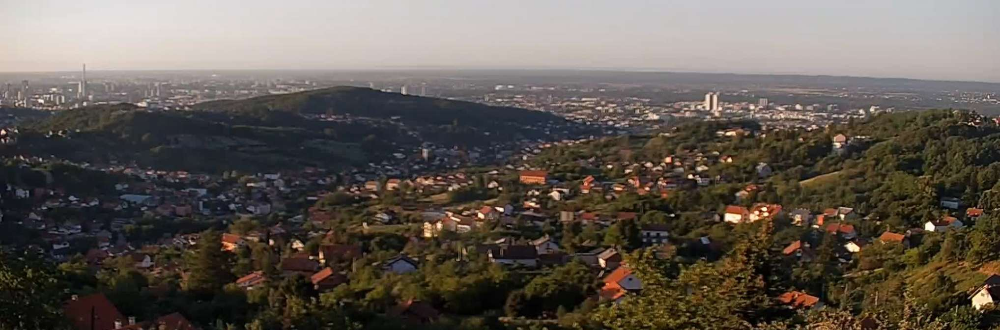 Zagreb Panorama View Vrapce Zagreb Right Now Live Livestreaming Cameras From Croatia Livecamcroatia Explore Croatia