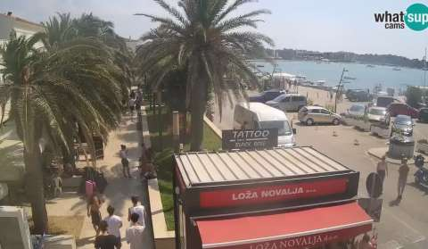 Novalja Promenade, City Center Web Cam
