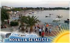 Šetalište hrvatskih mornara i pogled na plažu Lokunje