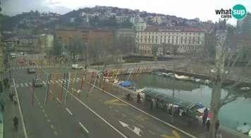 Rijeka - pogled na Trsat i Sušak