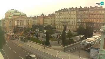Rijeka - pogled na HNK Ivana pl. Zajca