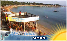 Pag, Šimuni - plaža